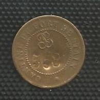 Jeton Militaire - Cantine Du Fort De Stains ( Stain Sans S Final ) - 50 Centimes - Monnaie De Nécessité Numerotée 558 - - Monétaires / De Nécessité