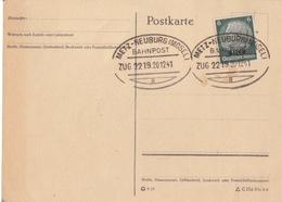 Postkarte Non Circulée Obl Ambulant (T172 Zug 2219 Metz-Neuburg A) Sur TP Els 6pf Le 20/12/41 - Marcophilie (Lettres)