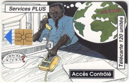 BENIN A-036 Chip L'OPT - Cartoon Communication, Telephone - Used - Benin