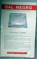 SOLITARIO CINESE DAL NEGRO TREVISO ISTRUZIONI ORIGINALI - Rompicapo
