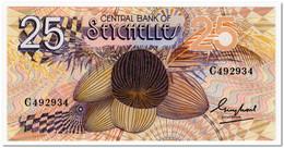 SEYCHELLES,25 RUPEES,1983,P.29,2 PIN HOLES,AU - Seychelles