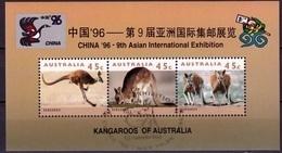 Australie Blok Mi 22 China 96  Gestempeld Very Fine Used Sheet - Blocchi & Foglietti