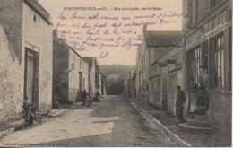 78 PORCHEVILLE  Rue Principale , Vers La Seine - Porcheville