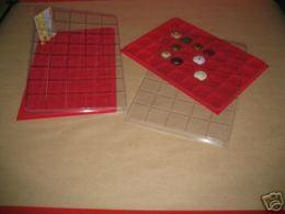 LOT 10 BOX - COLLECTEURS - PLATEAUX VELOURS POUR CAPSULES MUSELETS - 40 CASES CARREES - AVEC COUVERCLE - Capsules