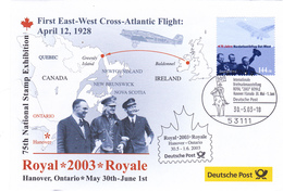 Aviation Cover , 2003 ; 1 East-West Flight Across Atantic Memorial Cover - Altri