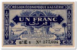 ALGERIA,1 FRANC,1944,P.98b,VF+ - Algeria