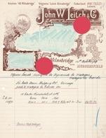 Milnsbridge  Huddersfield 1909 John Leitch Aniline Dye And Chemical Manufacturers - Royaume-Uni