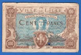 100 Fr   Du  18/3/1918  R  59/1655  Dans  L'etat - Bons & Nécessité