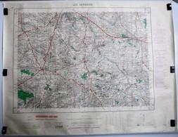 Carte Etat Major Les Herbiers (Vendée) Type M - 1/50000ème Feuille XIV - 25  Institut Géographique National (IGNF) 1952 - Cartes Topographiques