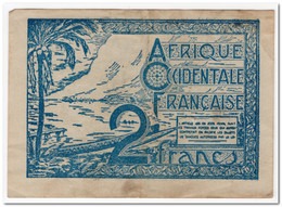 FRENCH WEST AFRICA,2 FRANCS,1944,P.35,2 PIN HOLES,aXF - Otros – Africa