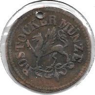 *rostock 3 Pfennig 1862 Hk  Km 141  Vf - [ 1] …-1871 : Etats Allemands