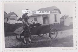 Voiture à Pédales '' VÉLOCAR '' 1940/50 - Photo Originale - Photos