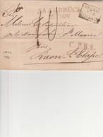 PRUSSE PAR FORBACH 1822, N° 194 Réf. Marque Et Cachet D'entrée En France En Provenance D'Europe Par Noël - Marcophilie (Lettres)