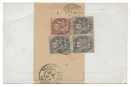 1920 - TYPE BLANC - CARTE COMMERCIALE Sous BANDE De DECAZEVILLE (AVEYRON) => MAURS (CANTAL) - 1877-1920: Semi Modern Period