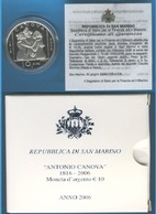 SAN MARINO - Antonio Canova - Saint-Marin