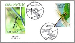 FAUNA PROTEGIDA: LIBELULA - DRAGONFLY. SPD/FDC Madrid 2015 - Protección Del Medio Ambiente Y Del Clima
