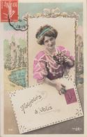 Thematiques Langage Des Timbres Toujours A Vous Timbré Datée Main Montfort 1911 - Phantasie