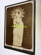 PHOTO DE CABINET 18 CM X 13 CM  NOTRE DAME DE DADIZEELE DADIZELE VIERGE TOUCHE A LA STATUE - Antiche (ante 1900)