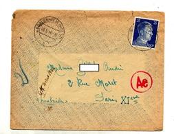 Lettre De Camp  Cachet Bordesholm Sur Hitler Controle Censuré - Deutschland