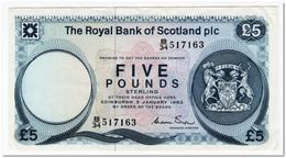 THE ROYAL BANK OF SCOTLAND,5 POUNDS,1983,P.342a,XF - Scozia