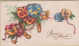 Nouvel An / Carte De Voeux. Paillettes - Nouvel An