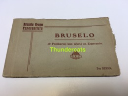 CARNET 10 CPA ESPERANTO BRUSELA GRUPO ESPERANTISTA BRUSELO BRUXELLES TRAM - België