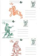 BELGIQUE SERIE 6 ENTIERS CARTES NEUFS  BELGICA 82 - Postcards [1951-..]