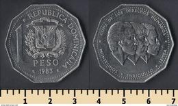 Dominicana 1 Peso 1983 - Dominicaine