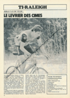 CYCLISME : PHOTO, TOUR DE FRANCE 1981, JOHAN VAN DE VELDE, EQUIPE TI-RALEIGH, RIJSBERGEN - Wielrennen