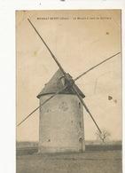 Mornay Berry Le Moulin à Vent  De Berliere Edit Delayance La Charité  Cachet Hexagonal Pli Coin Sup. Droit Windmill - France
