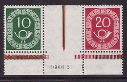 Bund Zusammendruck Posthorn WZ 1 HAN Postfrisch , Rand Ungebraucht (21794) - Zusammendrucke