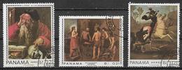 PANAMA 1967 QUADRI YVERT. 421-423 USATA VF - Panama