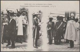 Visite De S M Alphonse XIII A Paris, 1905 - CLC CPA - France
