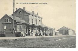 SOLRE-LE-CHATEAU      LA GARE  ( ECRITE  1913 ) - Solre Le Chateau