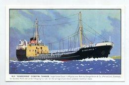 Mv KINGENNIE, Coastal Tanker  ( 2 Scans ) - Pétroliers