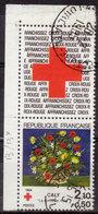 FRANCE - 1984 - YT N° 2345a - Oblitéré - Provenant De Carnet Avec Vignette - Croix Rouge - Gebruikt