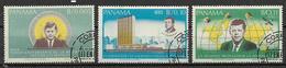 PANAMA 1967 KENNEDY YVERT. 445+POSTA AEREA 419-420 USATA VF - Panama