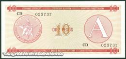 TWN - CUBA FX4 - 10 Pesos 1985 Serie A - Prefix CD UNC - Cuba