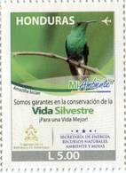 Lote H1, Honduras, 2015, Sello, Stamp, Mi Ambiente, Ave, Amazilia Luciae, Bird, Environment Protection - Honduras
