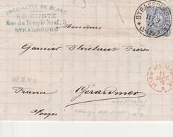 ALLEM AVR LUNEVILLE 11 Septembre1877, Entrée Par Courrier -convoyeurs N°357 Réf.  Noël - Postmark Collection (Covers)