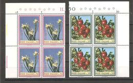 Italia - Serie Completa Nuova In Quartina:Flora - 2° Serie - 1967 * G - Vegetazione