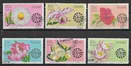 PANAMA 1967 FIORI YVERT. 374-379 USATA VF - Panama