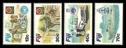 FIJI 1982 DEFENCE FORCE MILITARY POLICE CARS MOTOBIKES SHIPS SET MNH - Fiji (1970-...)
