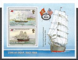Isle Of Man 1988. Scott #370a (MNH) Historic Ships Built On The Isle * - Man (Ile De)
