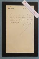 L.A.S Raymond POINCARE Ancien Président De La République Né à Bar Le Duc - SENAT - Lettre Autographe LAS - Autógrafos