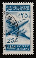 Lebanon 1953 Airmail - Postal Aircraft 25 P Blue SW 497 O Used - Lebanon
