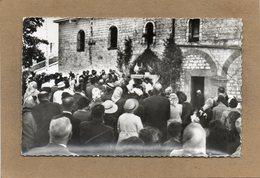 CPSM Dentelée - CAUROY-les-MACHAULT (08) - Aspect Du Pélerinage De St-Christophe Dans Les Années 50 - France