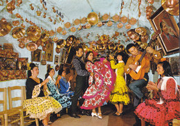 Spain PPC Espana Tipica Dance Of Gipsies In The Cave Baile Gitano Zigeunertanz ALICANTE 1978 (2 Scans) - Personajes