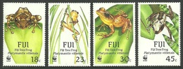 FIJI 1988 WWF WILDLIFE TREE FROGS SET MNH - Fiji (1970-...)