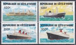 Elfenbeinküste Ivory Coast Cote D'Ivoire 1984 Transport Seefahrt Seefaring Schiffe Ships Dampfer Steamer, Mi. 830-3 ** - Côte D'Ivoire (1960-...)